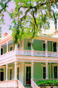 Savannah Architecture Prints - FORSYTH PORCH Savannah GA Print by William Dey
