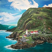 Landscape.by Sharon Duguay Originals - Fort Amherst Newfoundland by Sharon Duguay