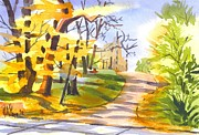 Autumn Colours Paintings - Fort Hill in Arcadia by Kip DeVore