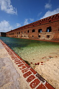 Dry Tortugas Prints - Fort Jefferson at Dry Tortugas National Park Print by Jetson Nguyen