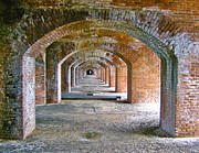 Dry Tortugas Prints - Fort Jefferson Print by David Davies