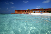 Dry Tortugas Prints - Fort Jefferson in the Dry Tortugas Print by Rob O