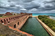 Civil War Fort Framed Prints - Fort Jefferson Moat Framed Print by Adam Jewell