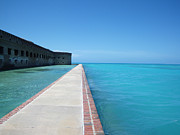 Dry Tortugas Framed Prints - Fort Jefferson Sea Wall Framed Print by Greg Graham