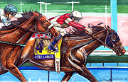 Horse Racing Prints Posters - Fort Larned Poster by Dave Olsen