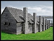 Chimneys Prints - Fort Loudon Cabins Print by Frank Williams