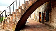 Colonial Actors Prints - Fort Moran Stairway to Cannons Print by Cindy Croal