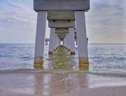 Gulf Breeze Posters - Fort Myers Beach Pier Poster by Kim Hojnacki