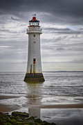 River Dee Framed Prints - Fort Perch Lighthouse Framed Print by Karen Lawrence