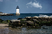 Sentinel Building Prints - Fort Pickering Light Print by Joan Carroll