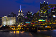 Downtown Pittsburgh Framed Prints - Fort Pitt View Framed Print by Jennifer Grover