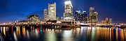 Boston Ma Prints - Fort Point Channel Panoramic Print by Josh Whalen