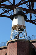 Frisco Pier Photos - Fort Point Light House and The Golden Gate Bridge 5D21486 by Wingsdomain Art and Photography