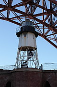 Frisco Pier Photos - Fort Point Light House and The Golden Gate Bridge 5D21571 by Wingsdomain Art and Photography