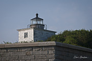 White Lighthouse.light Photos - Fort Taber Lighthouse by Dave Gordon