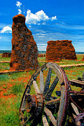 Western Art Digital Art Framed Prints - Fort Union New Mexico Framed Print by David Lee Thompson