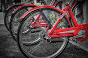 Exercising Photos - Fort Worth Bikes by Joan Carroll