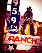 Country Music Town Prints - Fort Worth Radio Print by Sonja Quintero