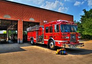 Ladders Prints - Fort Wright Fire Station Print by Mel Steinhauer