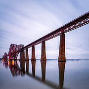 Edinburgh Art - Forth Rail Bridge Colour by John Farnan