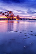 East Coast Acrylic Prints - Forth Rail Bridge Acrylic Print by John Farnan