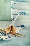 Food Still Life Posters - Fortune Cookie Poster by Priska Wettstein