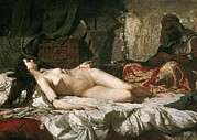 Odalisque Photo Framed Prints - Fortuny, Mariano 1838-1874. Odalisque Framed Print by Everett