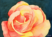 Floral Watercolor Painting Originals - Forty-Five Minute Rose by Ken Powers