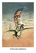 Forward America Print by Agedpixel