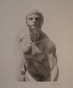 Naked Drawings Originals - Forward Figure by Andrew Sandberg