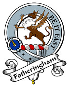 Genealogy Prints - Fotheringham Clan Badge Print by Heraldry