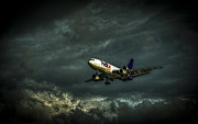 Jets Photo Metal Prints - Foul Weather FedEx Metal Print by Marvin Spates