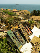 Found Art Hilltop Overlook Ile De Goree Dakar Senegal West Africa Print by Robert Ford