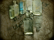 Antique Bottles Posters - Found Old Not Broken Poster by Thomas Young