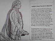 George Washington Drawings Posters - Founding Fathers Poster by Christy Brammer