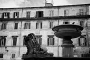 Trastevere Framed Prints - fountain and buildings in square in trastavere Rome Lazio Italy Framed Print by Joe Fox