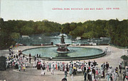 Patricia Hofmeester - Fountain and May partin in Central Park in 1905