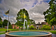 Western Carolina University Framed Prints - Fountain at Mars Hill College Framed Print by Ryan Phillips