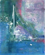 Abstract Fountain Originals - Fountain by Texas artist Sally Fraser by Sally Fraser
