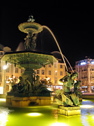Mermaids Photos - Fountain in Rossio Square by Jose Elias - Sofia Pereira