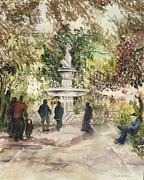 Paula Nathan - Fountain in the Park
