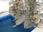 Waterfall Reliefs Prints - Fountain in the yard Print by Nikolay Ilchevski