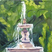 Indiana Landscapes Paintings - Fountain Middle Drive Woodruff Place by Katrina West
