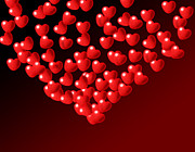 Valentines Day Digital Art - Fountain of Love Hearts by Kiril Stanchev
