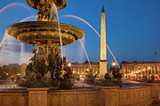 Concorde Framed Prints - Fountain Place de la Concorde Framed Print by Brian Jannsen