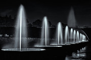 Gardens Digital Art Originals - Fountains and lights by Eduard Moldoveanu