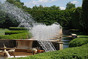Water Garden Metal Prints - Fountains Metal Print by Jennifer Lyon