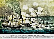 Naval History Prints - Four Bells Full Speed Print by Benjamin Yeager