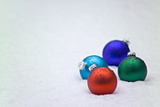Christopher Campbell - Four Christmas balls in...