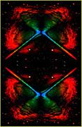 Michael Mixed Media Framed Prints - Four Corners of the Universe Framed Print by Michael Knight